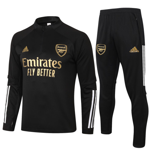 Arsenal Training Jersey Suit 20/21 Black