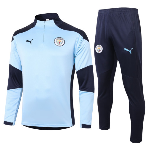 Manchester City Training Jersey Suit 20/21 Light blue