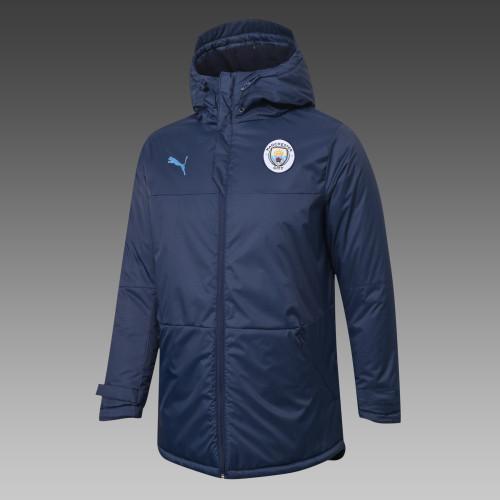 Manchester City Down Cotton Jacket 20/21 Blue