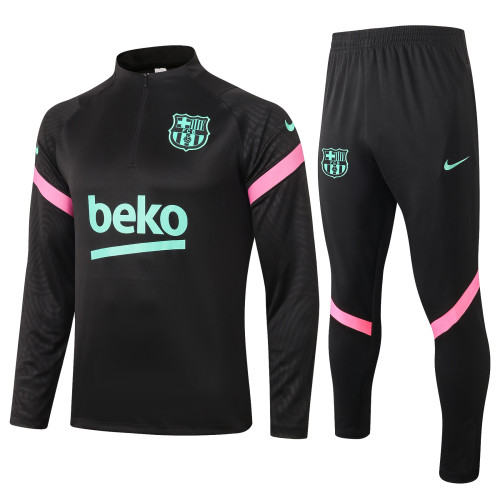 Barcelona Training Jersey Suit 20/21 Black