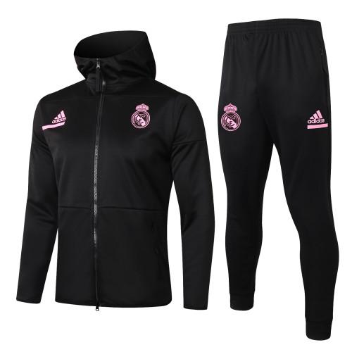 Real Madrid Training Jacket Suit 20/21 Black