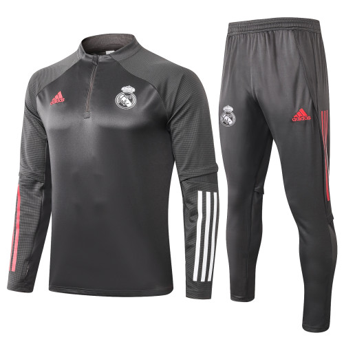 Real Madrid Training Jersey Suit 20/21 Light Grey