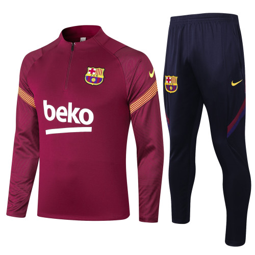 Barcelona Training Jersey Suit 20/21 Red