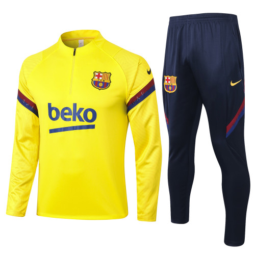 Barcelona Training Jersey Suit 20/21 Yellow