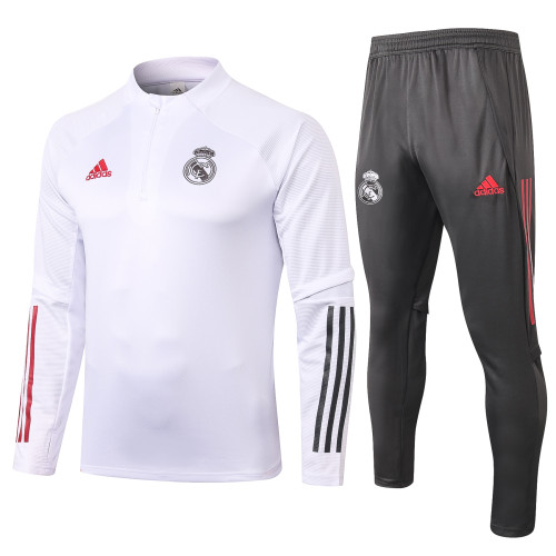 Real Madrid Training Jersey Suit 20/21 White