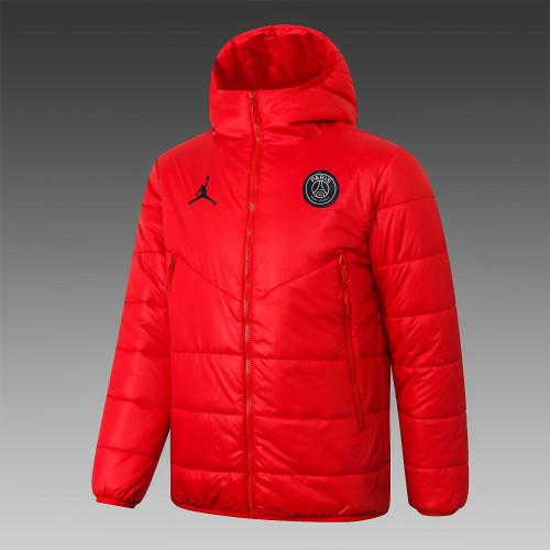 Paris Saint Germain Down Cotton Jacket 20/21 Red