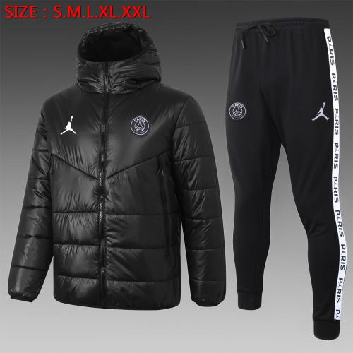 Paris Saint Germain Down Cotton Jacket 20/21 Black