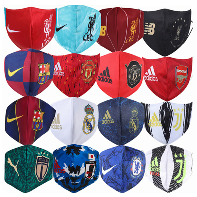 Football Club Face Masks /National Team Masks /Nike Adidas Masks