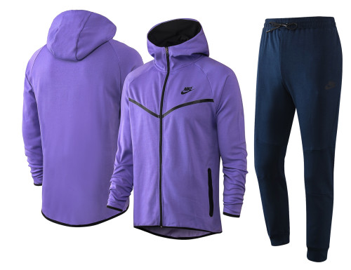 Nike Cotton Jacket Suit Purple