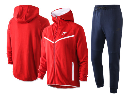 Nike Cotton Jacket Suit Red