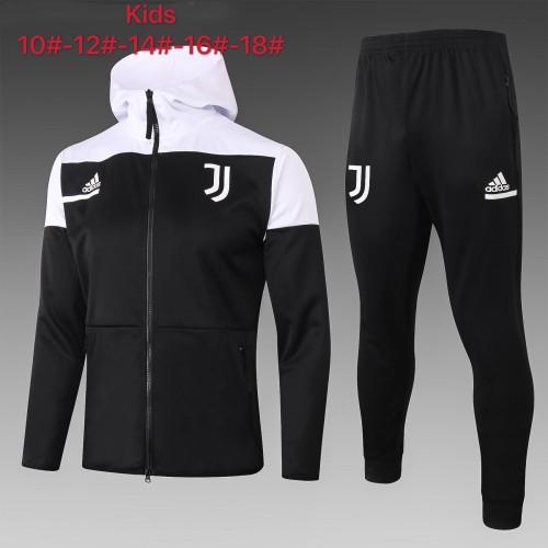 Juventus Kids Training Jacket Suit 20/21 Black