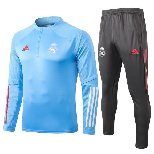 Real Madrid Kids Training Jersey Suit 20/21 Light blue