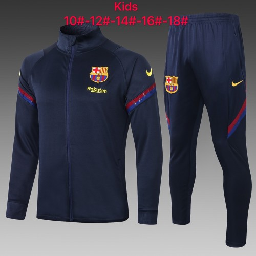 Barcelona Kids Training Jacket Suit 20/21 Royal blue