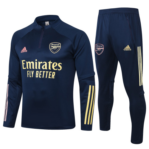 Arsenal Kids Training Jersey Suit 20/21 Blue