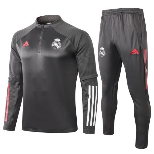 Real Madrid Kids Training Jersey Suit 20/21 Light Grey