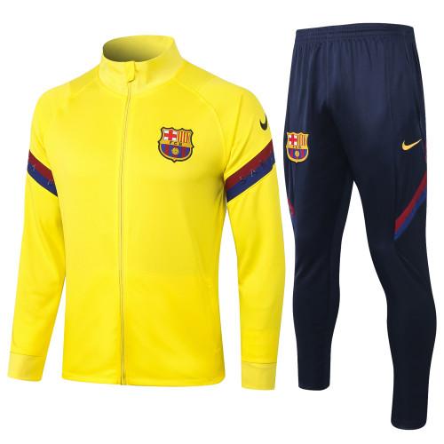 Barcelona Kids Training Jacket Suit 20/21 Yellow