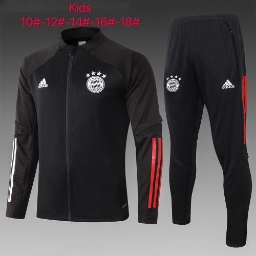 Bayern Munich Kids Training Jacket Suit 20/21 Black
