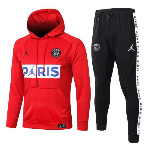 Paris Saint Germain Kids Training Hoodie Suit 20/21 Red