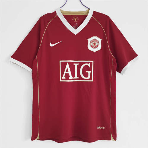 Manchester United Home Retro Jersey 06/07