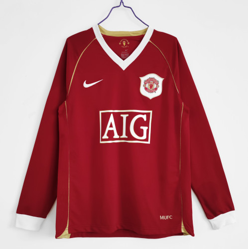 Manchester United Home Long Sleeve Retro Jersey 06/07
