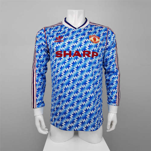 Manchester United Away Long Sleeve Retro Jersey 90/92
