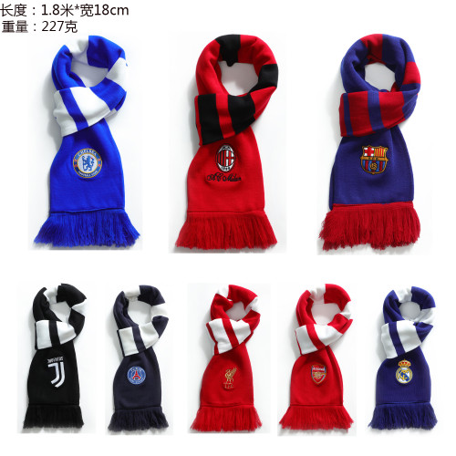 Football Club Thicken Scarf