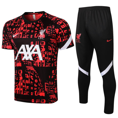 Liverpool Training Jersey 21/22 Black-Red