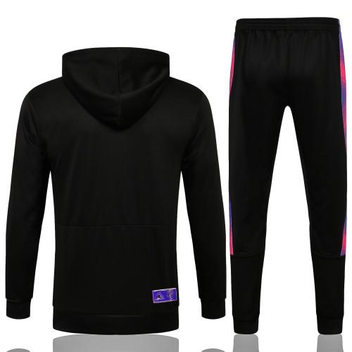 Paris Saint Germain X Jordan Hoodie Suit 21/22 Black-01