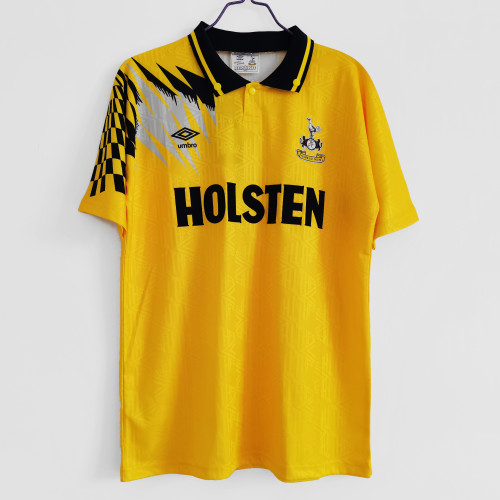Tottenham yellow Retro Jersey 1992/94