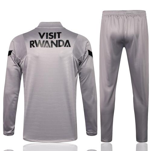 Paris Saint Germain Training Jersey Suit 21/22 Gray