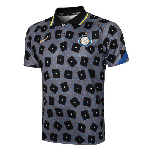 Inter Milan POLO Jersey 21/22 Gray