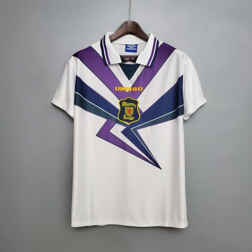 Scotland white Retro Jersey 94/96