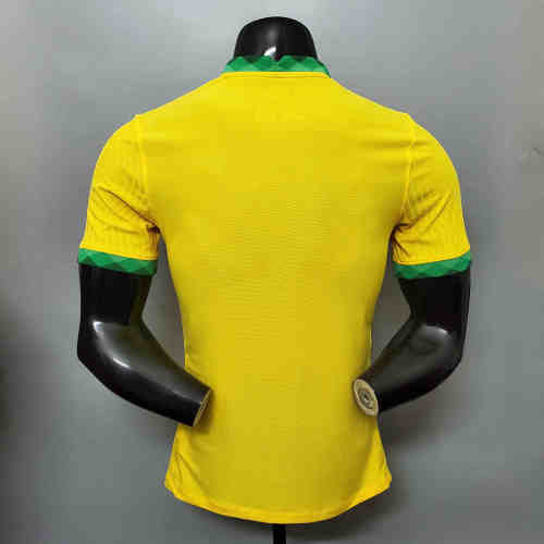 Brazil Home Player Version Man Jersey 20/21