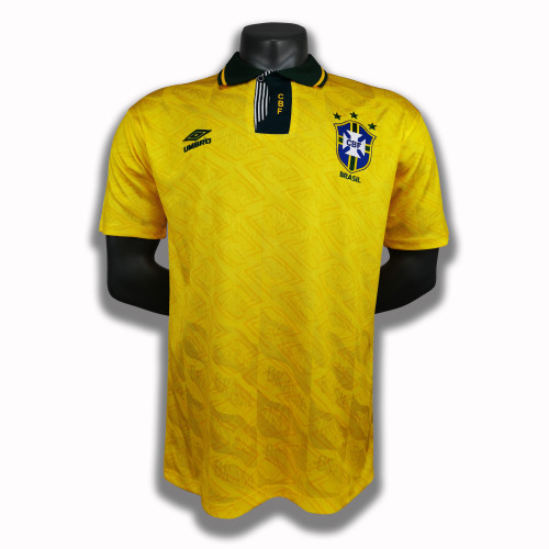 Brazil  Home Retro Jersey 91/93