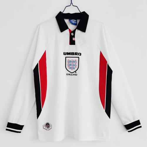 England Retro Home Long Sleeve Jersey 1998