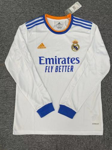 Real Madrid Home Man Long Sleeve Jersey 21/22