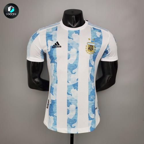 Argentina Home Man Player Jersey 21/22