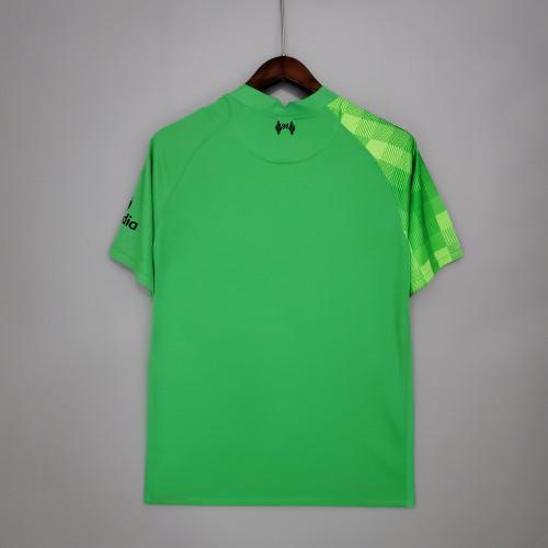 Liverpool Goalkeeper Man Jersey Green 21/22