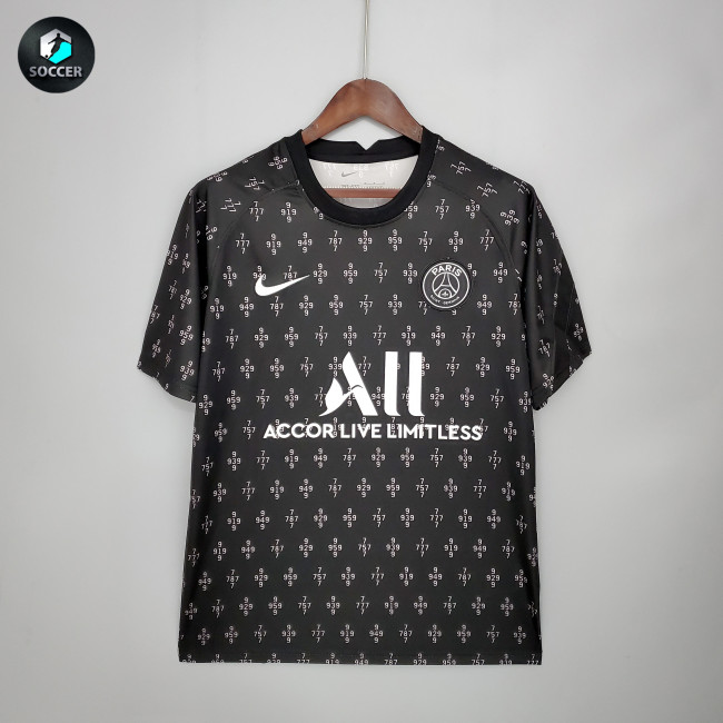 Paris Saint Germain Training Jersey 21/22 Black