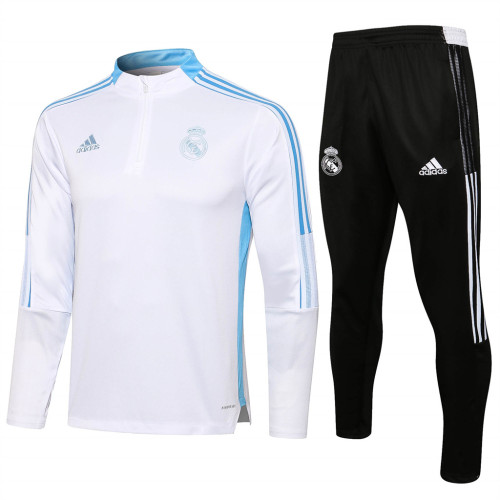 Real Madrid Training Jersey Suit 21/22 White
