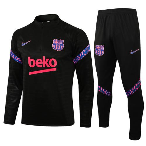 Barcelona Training Jersey Suit 21/22 Black
