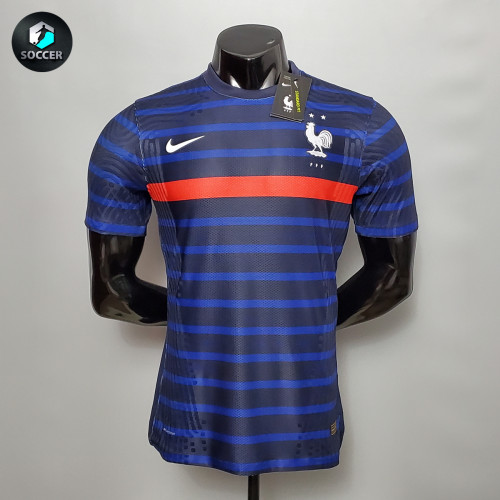 France Home Player Version Jersey 20/21