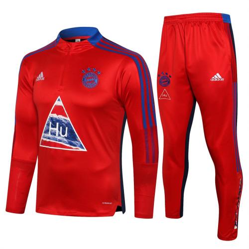 Bayern Munich Training Jersey Suit 21/22 Blue Edge