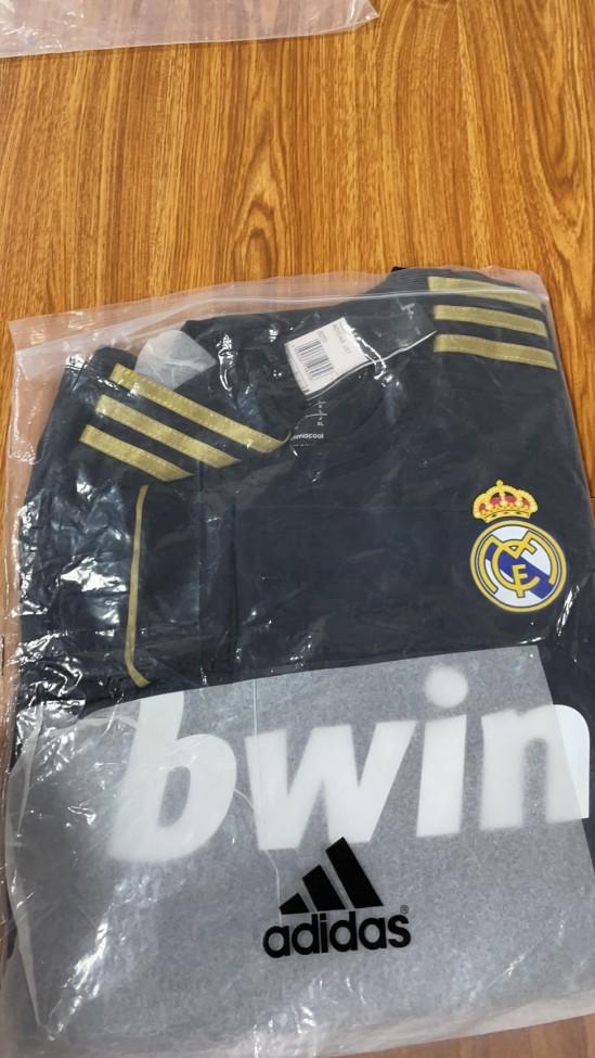 Real Madrid Away Retro Long Sleeves Jersey 11/12