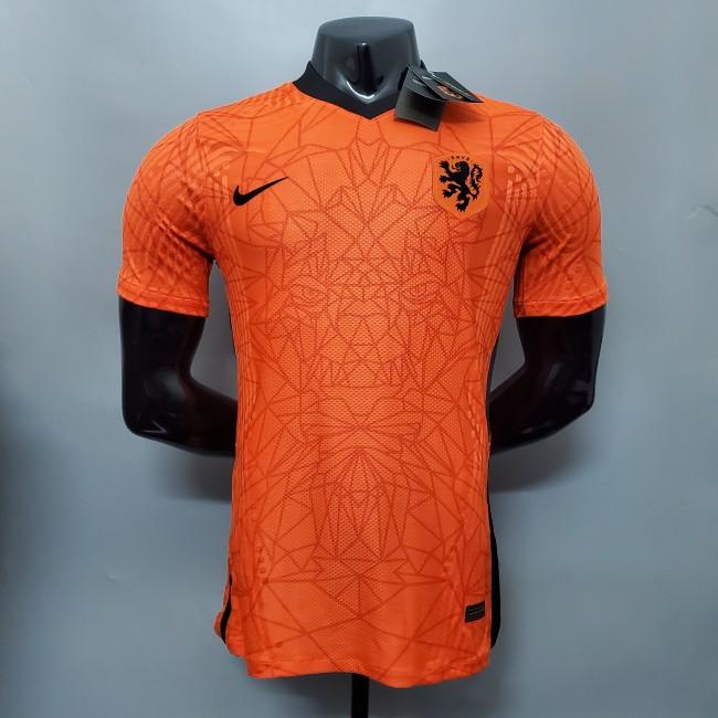 Netherlands Home Player Version Man Jersey 20/21