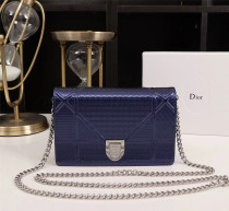 Diorss Woc Small Handbag Shoulder Bag Clutch Bags Blue