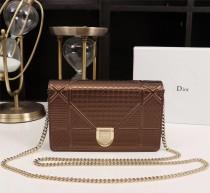 Diorss Woc Small Handbag Shoulder Bag Clutch Bags Brown