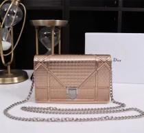 Diorss Woc Small Handbag Shoulder Bag Clutch Bags Rose Gold