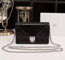 Diorss Woc Small Handbag Shoulder Bag Clutch Bags Black