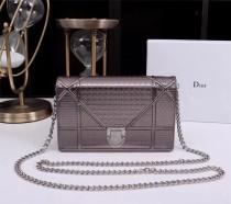 Diorss Woc Small Handbag Shoulder Bag Clutch Bags Silver